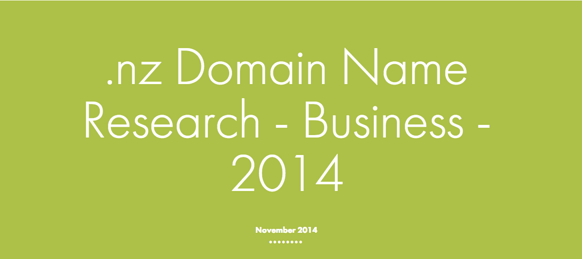 2014 Business Research .nz domain names